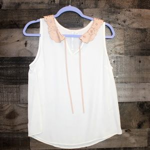 Lauren Conrad LC white tank top